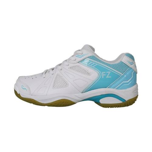 FZ Forza Extremely W Womens Badminton Shoes (White-Light blue)