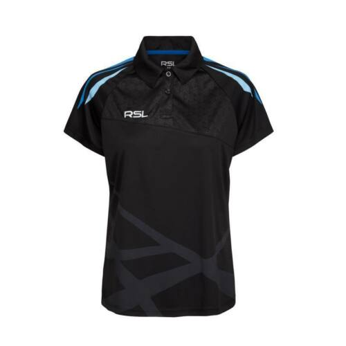 RSL Golf Womens Badminton Polo Shirt (Black)