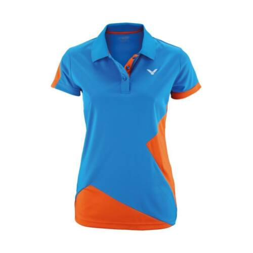Victor Function 6118 Womens Badminton Polo Shirt (Orange-Blue)