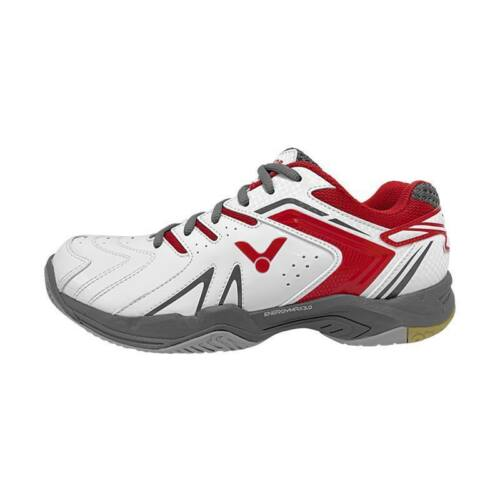 Victor A610 II Mens Badminton Shoes (White-Red)