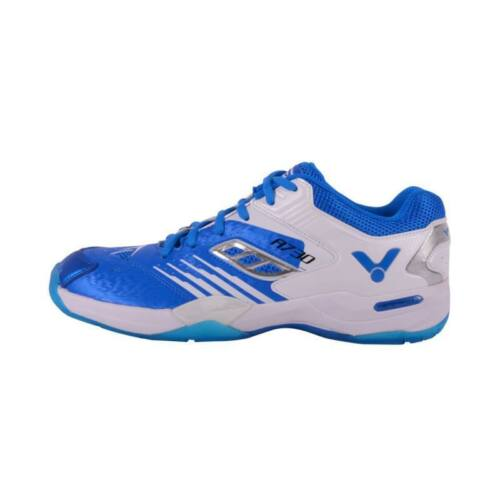 Victor A730 Junior Badminton Shoes (Blue-White)