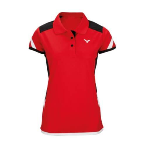 Victor Function 6717 Womens Badminton Polo Shirt (Red)